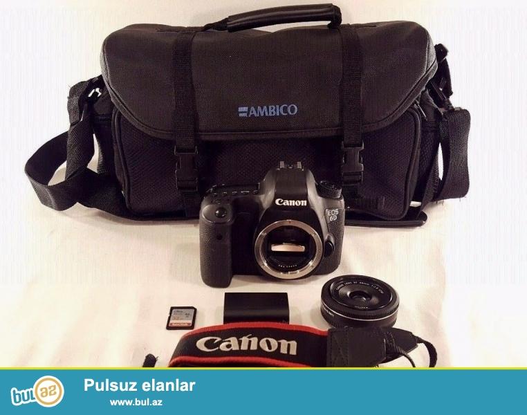 Canon EOS 6D 20.2 MP Digital SLR Camera.<br /> <br /> istifadəçi kitabçası:<br /> <br /> Brand Canon<br /> Model EOS 6D<br /> Əsas Xüsusiyyətlər<br /> Camera növü Digital SLR<br /> Kamera qətnamə 20...