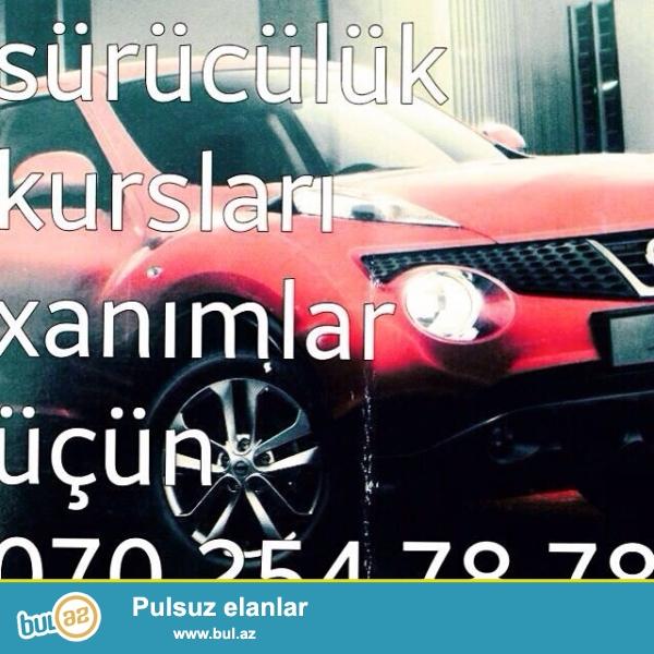 Xanimlar ucun individual suruculuk kurslari. Nissan Juke avtomobiliyle.