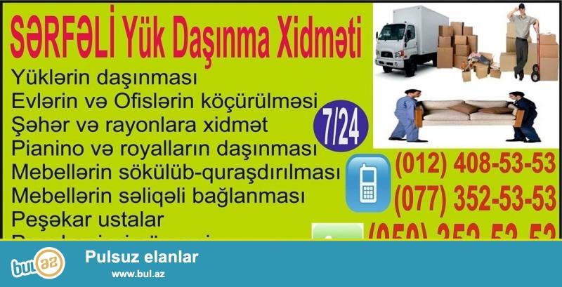 Sərfəli Yük Daşıma Xidməti - 7/24 - Whatsapp: (050) 352-53-53<br /> Yüklərin daşınması...