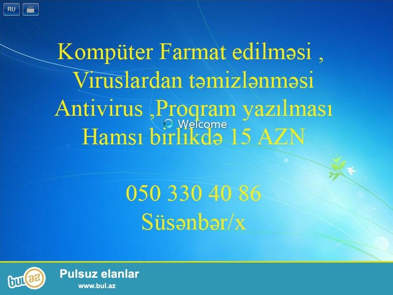 Keyfiyyətli Kompüter farmatı  15 manata 050 3304086  Süsənbər