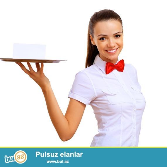 Tantuni restoranina xanim ofisiant teleb olunur<br /> emek haqqi- gunluk 10 manat (cayevoyda var)<br /> yas heddi - 18-30 arasi<br /> is vaxti-qrafikle 10...