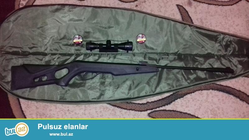Kral 177 model. kalibri 4.5 mm, Türkiyə istehsalıdır<br /> üstündə Gamo markali binokl, çanta və 500 ədəd güllə verilir...