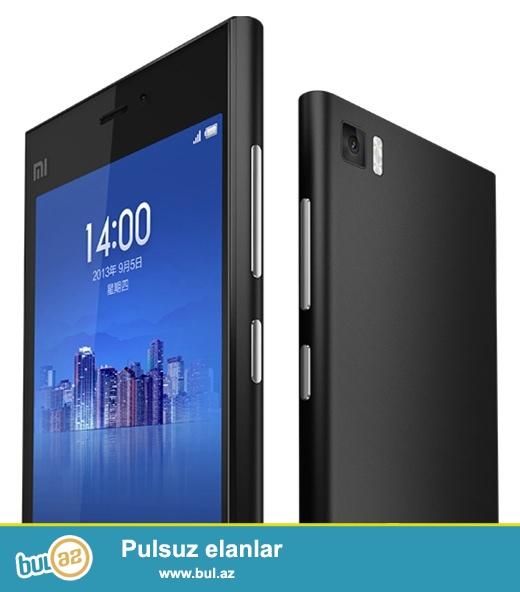 """Yeni.Çatdırılma pulsuz<br /> Xiaomi Mi3 5.0"""" Qualcomm Snapdragon 800 Quad Core Smartphone 2GB RAM 16GB ROM Multi-Languages<br /> <br /> 1, Xüsusiyyətləri:<br /> <br /> 1..."""