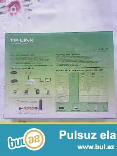 Marka- TP-LINK . <br /> Madel- TL-WR740N.<br /> 4 Girishlidir.<br /> Tezedir.Qutusu bele acilmayib...