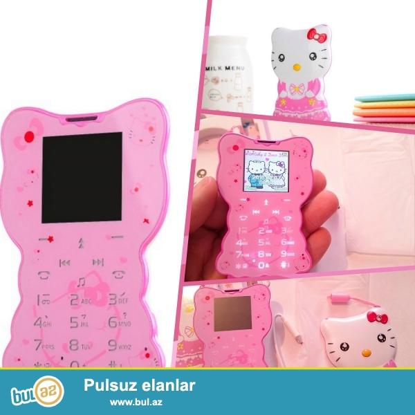 Əsənliklər.bu dəfə qızlar üçün və qız övladlarınız üçün Hello Kitty personajı olan telefonları təqdim edirik...