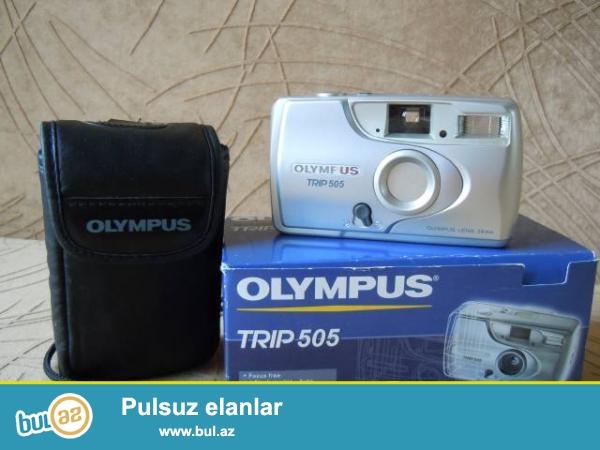 Əla vezyetde fotoaparat satiram.Kabrosu var.Yaponiya istehsali olympus trip 500 modelidir...