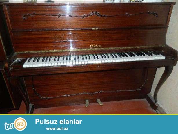 Ronish pianinosu satiram ela veziyetdedir, vaxti vaxtinda koklenib, istifade olunmayib