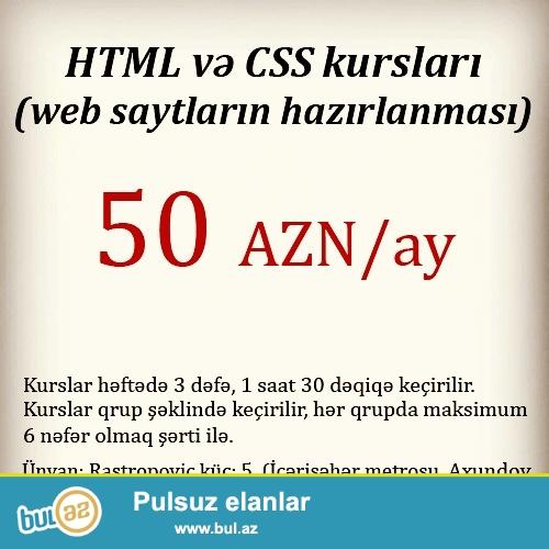 HTML ve CSS SAYT sayt yigmaq ucun istifade edilen nisanlanma dilidir...