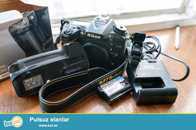 """Nikon D D7100 24.1 MP Digital SLR Camera.<br /> .<br /> istifadəçi kitabçası:<br /> <br /> Brand Nikon<br /> Model D7100<br /> Əsas Xüsusiyyətlər<br /> Camera növü Digital SLR<br /> Ekran ölçüsü 3 """"<br /> <br />  Daha ətraflı məlumat üçün bizimlə əlaqə saxlayın<br /> <br />  Skype: Unbetable..."""