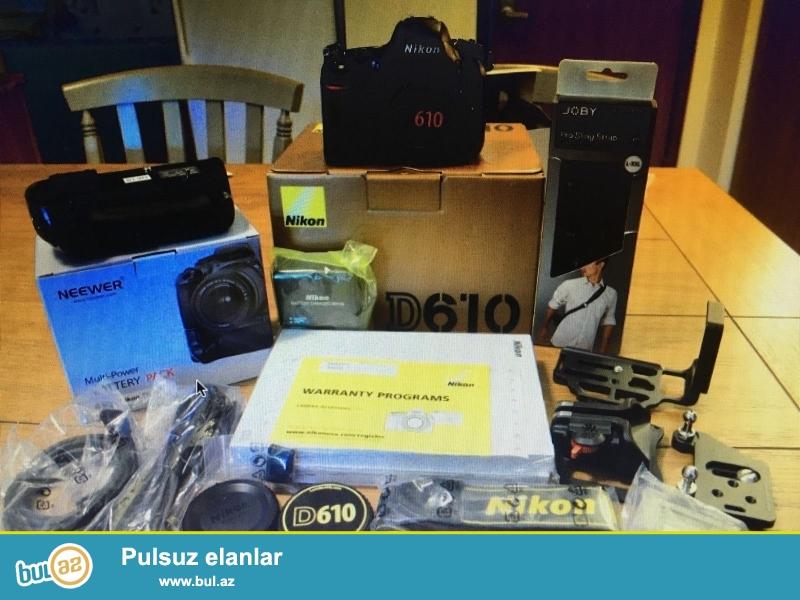 Nikon D D610 24.3 MP Digital SLR Camera.<br /> .<br /> istifadəçi kitabçası:<br /> <br /> Brand Nikon<br /> Model D610<br /> Əsas Xüsusiyyətlər<br /> Camera növü Digital SLR<br /> Kamera qətnamə 36...