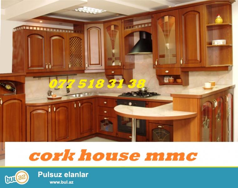 Istenilen zovqe uygun mebel destlerinin sifarisle hazirlanmasi munasib serfeli qiymetlerle Cork House MMC firmasinda...