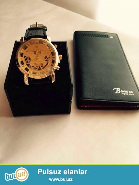 Yenidir . Rolex saat və Bovis kaşelok , ikisi birlikdə 13 AZN !!! <br /> Upakofkada ...