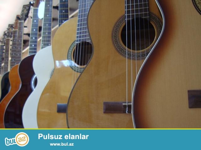 Gitara muellimlerinin secimi olan hevesker ve yeni oyrenenler ucun keyfiyyetli ve munasib qiymete olan gitarlar...