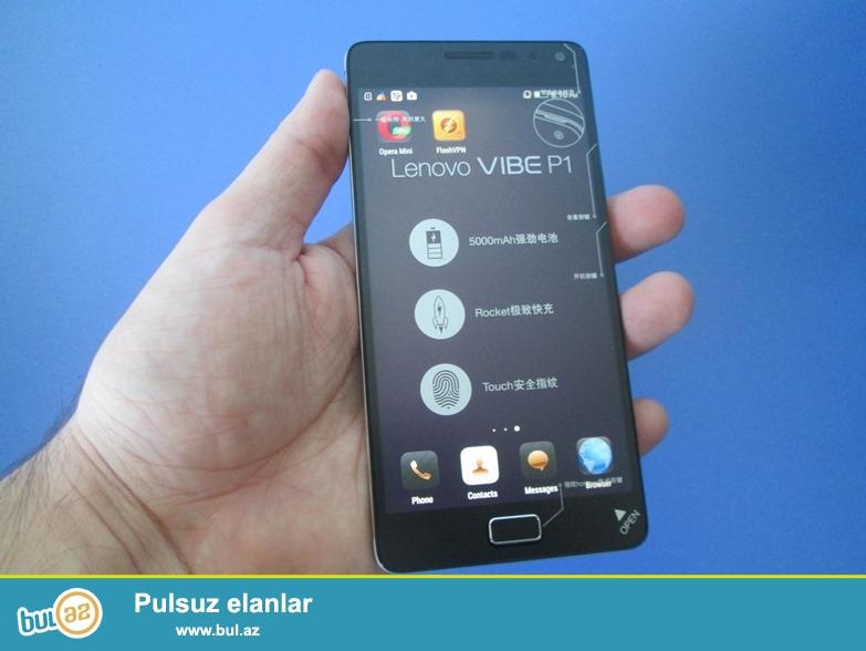 Təzə, istifadə olunmayıb. Sərfəli qiymətə dünya səviyyəli brend smartfon akkumlayotoruna görə dünya rekodrdçusu Lenovo P1 satılır <br /> P1C58 - 2gb ram - 335 azn <br /> P1C72 - 3gb ram - 435 azn <br /> Barmaq izi ilə açılma <br /> 13 və 5 meqapiksel kameralar <br /> Yeni 8 nüvəli 64 bitlik Qualcomm Snapdragon 615 prossesor...