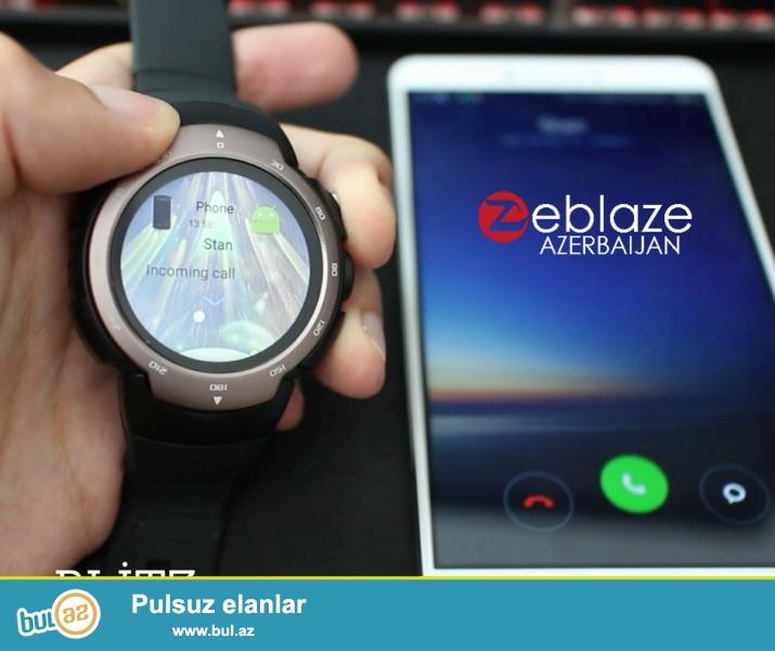 ⌚ - Zeblaze Blitz<br /> - Cins - Unisex<br /> - Sim kart yeri ( Mobil telefon kimi istifadə etmə imkanı )<br /> - Rəng: Portağal və Boz<br /> - Display: 1...