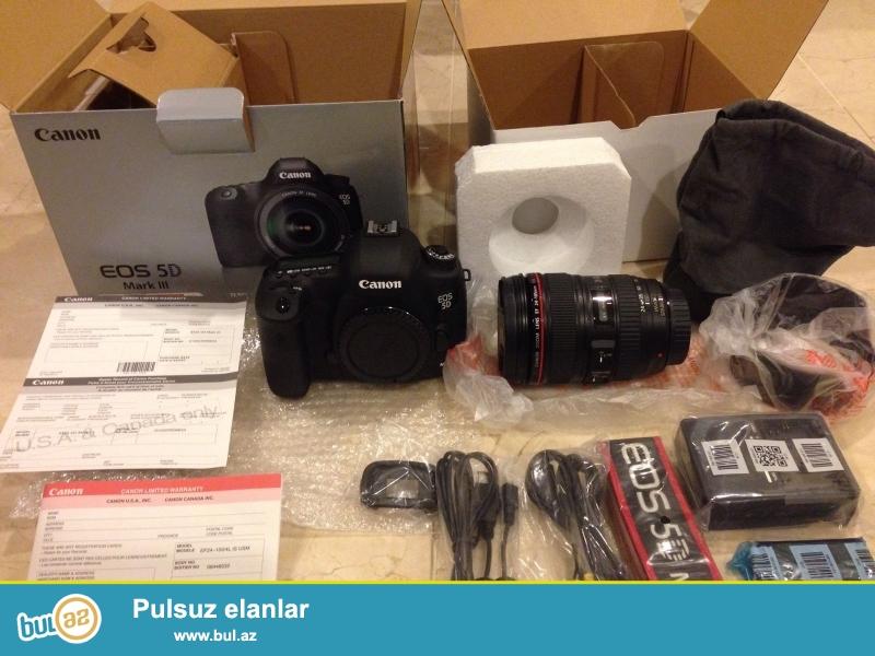 Canon EOS 5D Mark III 22.3 MP Digital SLR Camera<br /> <br /> 2 Units Pulsuz üçün 1 almaq Almaq<br /> <br /> Orijinal və 100% orijinal və 12 ay və hesablanması bir zəmanəti ilə möhürlənmiş qutusuna aksesuarlar tam dəsti ilə gəlir...