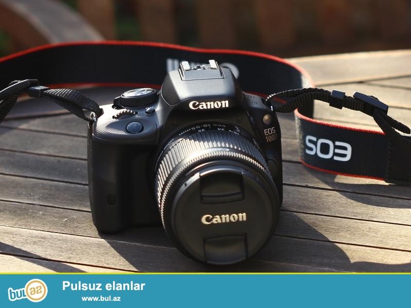 Canon 100d eos fotoaparati satiram<br /> Ideal veziyyetdedi her bir senedleride var ustunde<br /> 2 ayin aparatidi<br /> Fikri ciddi olan şexsler ya zeng ede biler yada whtsapda yaza biler