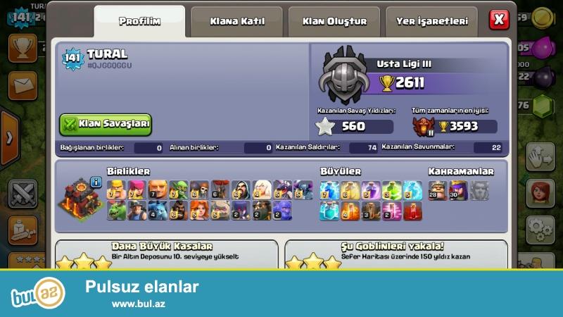 CLASH of clans satıram 141 lvl th 10 max daha etraflı 050...