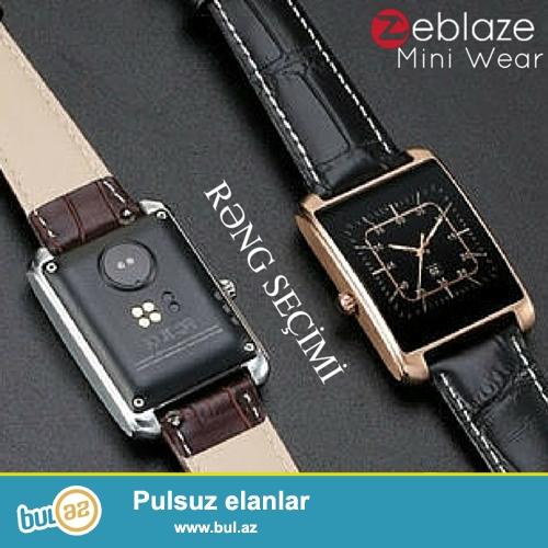 ⌚ - Zeblaze MiniWear<br /> - Cins - Qadın<br /> - Rəng: Gümüşü və Qızılı<br /> - Display: 1...