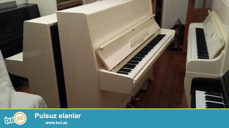 Almaniya istehsali kicik olculu ag rengde ideal veziyetde , koklenmish Ronish pianinosu satilir...