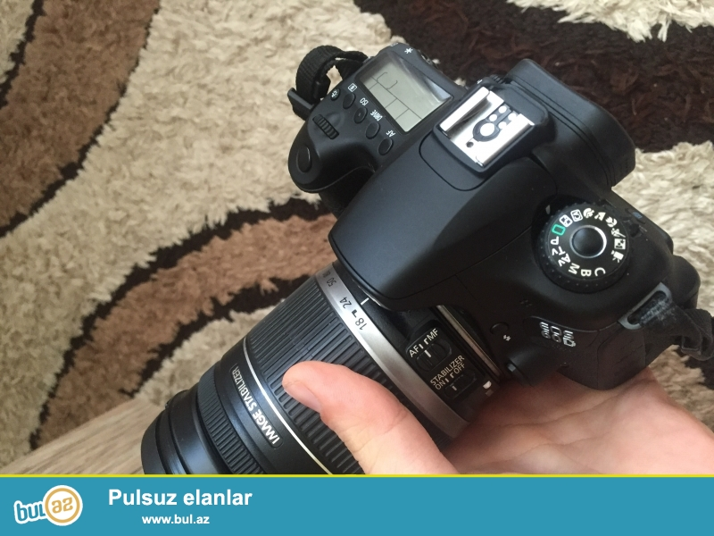 Canon 60D satilir probeg 9000 son qiymetdi lens 18/200