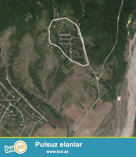 İsmayilli rayonu Yeniyol kəndində 5 sot torpaq sahəsi satilir...