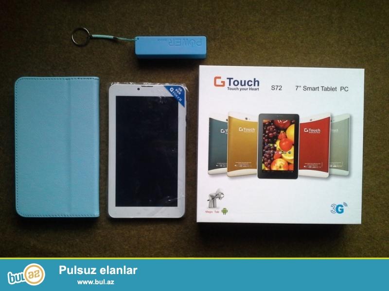 GTouch Smart Tablet <br /> Qutusnda Adaptoru,3D Eyneyi,Kaburasi,Power Banki,Naushniki <br /> Planshet Tezedir Ishlenmeyib <br /> Real Alicilar Zeng Vura Biler