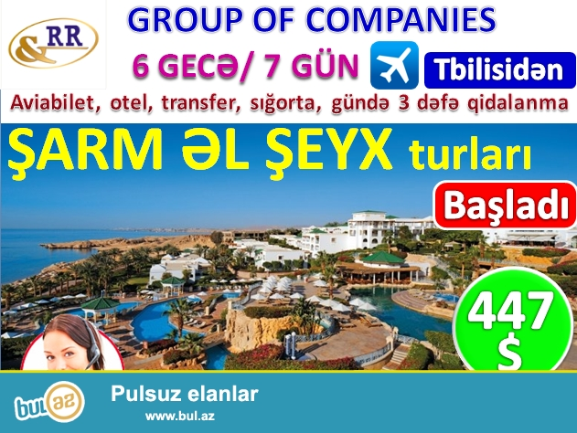 ŞARM ƏL ŞEYX turları başladı! Cəmi 447 USD -Hər şey daxil!<br />