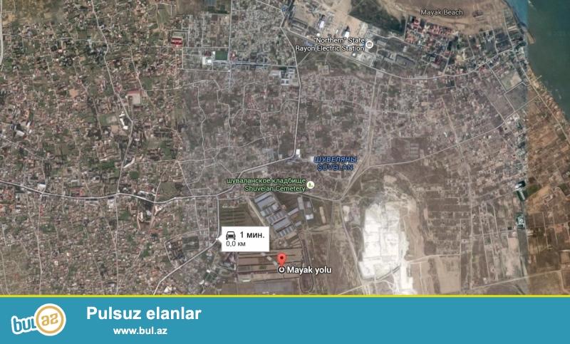 Shuvelanda (Prezident yolunun ustunde) 6 sot 2,5 hundurluklu dash hasara alinmish bag sahesi satilir...