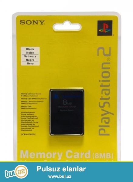 Playstation 2 Memory Card <br /> Tezedir <br /> Acilmayib,Istifade Olunmayib <br /> Qiymeti - 10 Azn <br /> Real Alicilar Zeng Vura Biler