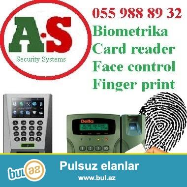 Barmaq izi sistemi  055 988 89 32<br /> <br /> Biomrtrik sistem finger print ischi heyetinin gelish-gedish saatlarini qeyde alir, heftelik ayliq, illik hesabat cixarir...