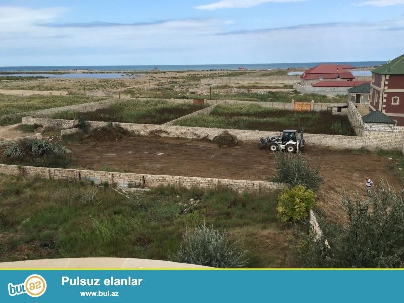 Merdekanda denizden 1 km arali 24,sot toroaq sahesi satilir.Butun kommunikasiya xettleri,das hasari,demir darvazasi ve cixarisi var...