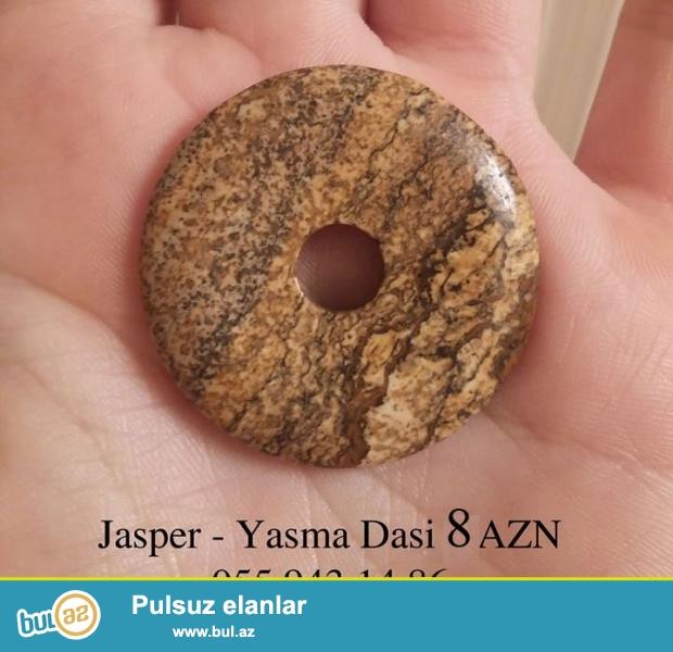 Jasper- Yaşma daşından kolye İmmunitet və sinir sistemi, ürək, ciyər eyni zamanda böyrəyin funksiyalarını qüvvətləndirir...