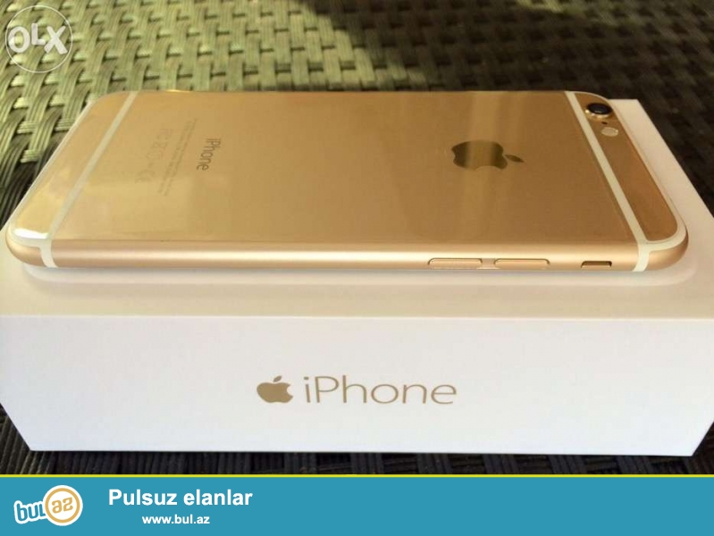 Iphone 6 gold satilir, teze kimidi, problemsizdi, qutusu ve aksesuarlari var...