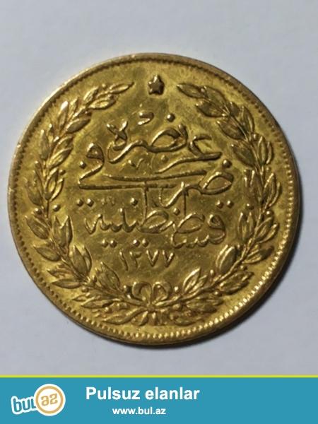 <br /> Osmanlı  imperiyasına  məxsus  qədim  antik  qızıl  qəpik...