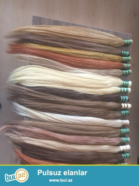 yuzde yuz garantiyali tebii saclar her rengimiz mevcuttur 100 gr 90 azn