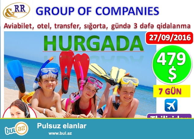 Cəmi 479 USD -7 gün -Hurgada turları (MİSİR) -uçuş Tbilisidən<br />