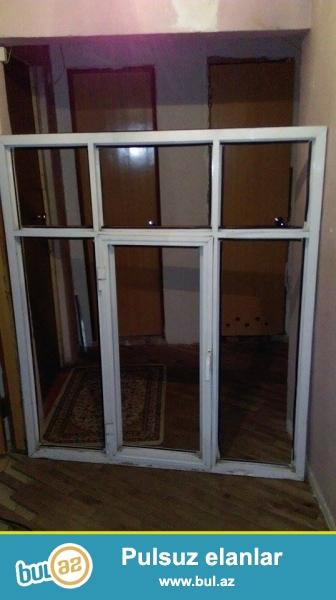 Alminum pencere yaxsi veziyyetdedir eni 1,39 hundurluyu 1,56sm pencere Yasamaldadir...
