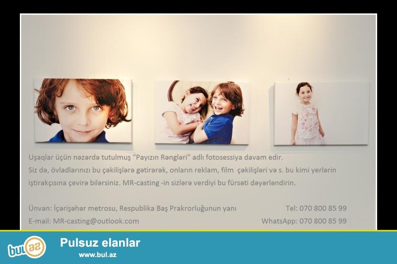 """Uşaqlar üçün nəzərdə tutulmuş """"Payızın Rəngləri"""" adlı fotosessiya davam edir..."""