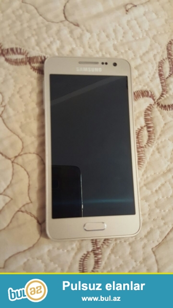 Salam.Samsung a 3 2015 gold.telefon ela vezyetdedir...