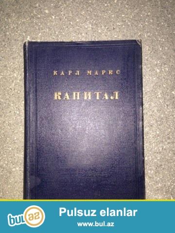 """Karl Marksın dünyaca ən məşhur əsərlərindən biri """"KAPİTAL. """"Sovet nəşridir. Qiymətini aşağı da etmək olar..."""