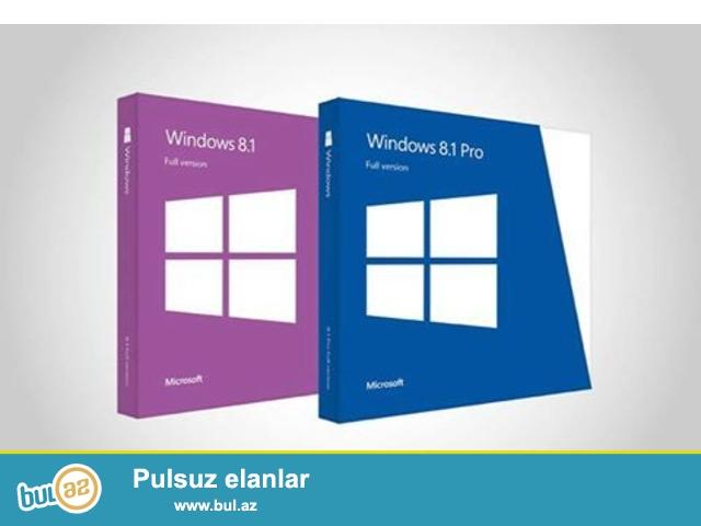 Orjinal Əməliyyat sistemlərin yazılması (Windows XP/7/8/8...