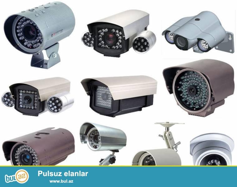 SaveSecurity Systems şirkəti dəyərli müştərilərinə təklif edir:<br /> İP və analoq kameraları- CCTV müşahidə kameraları, İP kameralar,gecə görünüşlü, zoomlu, speedom və slov dome, İR və dome kameralar ,kabelli və kabelsiz kameralar...