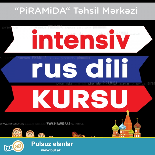 RUS dilində SƏLİS DANIŞ!!!<br /> <br /> İntensiv rus dili kursu - rus dilini qısa bir müddət ərzində öyrənmək üçün unikal şansdır...