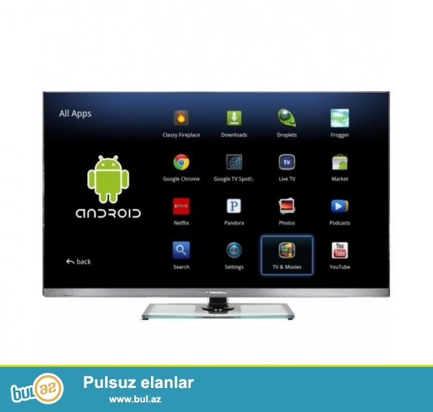 Android tilpli smart tv 107 ekran 3d destekliuir eynekler var...