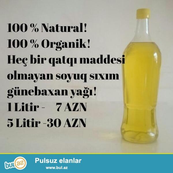 100 % tebii soyuq sıxım günebaxan yağı satılır...