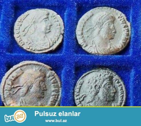 1-3cu esrlere aid Roma imperiyasının 4 ədəd burunc   sikkesi