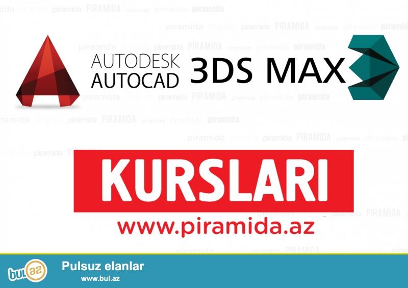 3D Max proqramı üzrə kurs.<br /> <br /> 3DSMAX AUTODESK firmasının istehsal etdiyi qrafik proqramdır...