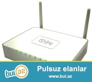 ADSL Modem shiro,wifi + 4 portlu,yaxsi veziyyetde, sadece wifi parolu standart ozu teyin edir...