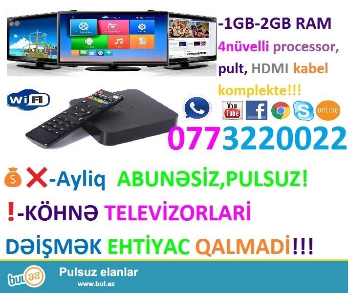 ❗SMART TV BOX - 0773220022 ENDIRIM❗❗❗ 95AZN YOX CƏMİ 65AZN❗❗❗!!!TƏLƏSİN!!!❗❗❗<br />
